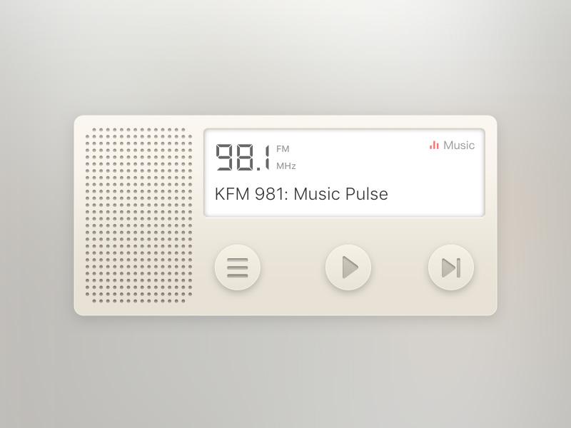 DailyUI 001/Radio