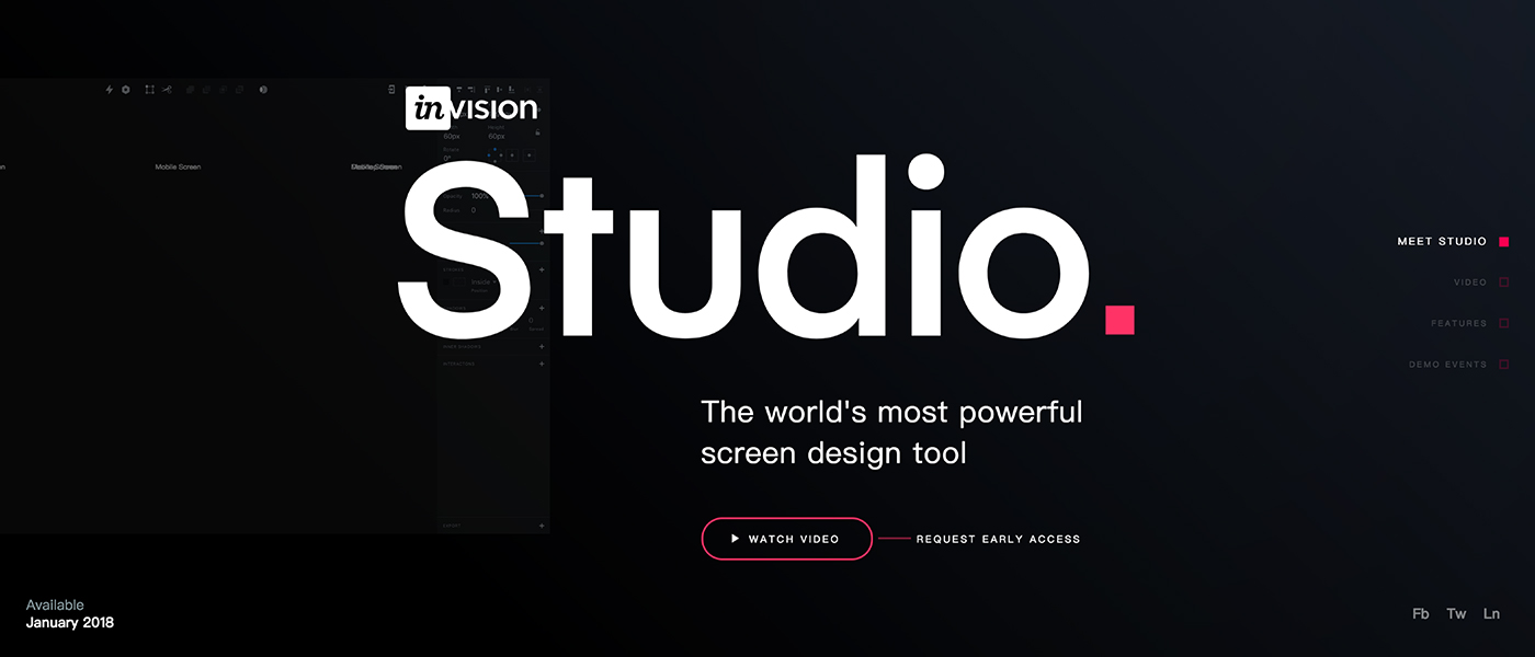 震惊,炸裂,要上天,InVision 即将发布设计工具——Studio